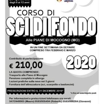 CORSI SCI FONDO GIOVANI 2020